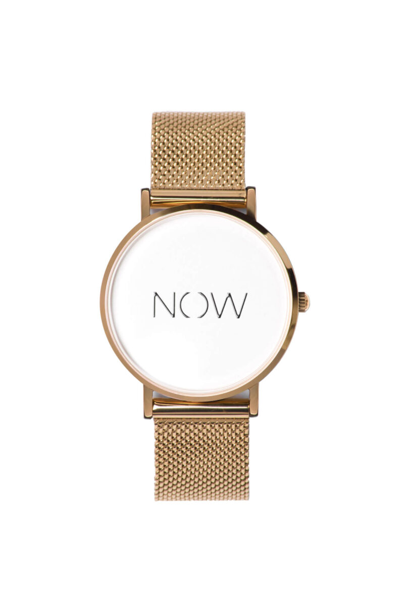 the watch now exclusive-frontview-gold